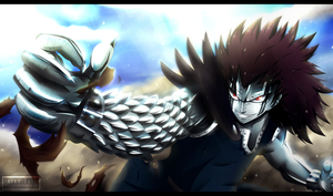 Fairy Tail chapter 61 - Gajeel Redfox [commission] by Kortrex