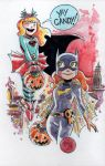Watercolor: Batgirl and Supergirl Halloween by mikemaihack
