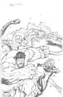 MA FF cover feat The HULK by jpm1023