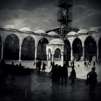 Blue Mosque court by lostknightkg