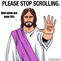 Scrolling Jesus by zomberinacontagion