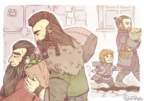 Hobbit - on their way by PetitPotato