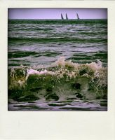 At the beach-poladroid-5 by Rob1962