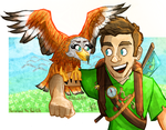 Herne and the Red Kite by pepe-chaan
