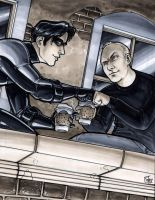 Nightwing fist bump by ComfortLove