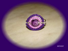 Purple-pink ring by jasmin7