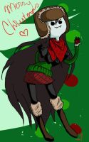 Marceline Christmas themed colored by JennaViva