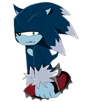 Sonic the Werehog (Sonic X style?) by AmyRoselovesyou