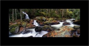 Mouse Creek Falls Panorama 02 by courey