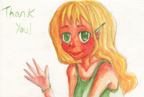 Watercolor Thank You Card by Implis
