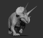 WIP 004 - Triceratops horridus male posed by FabrizioDeRossi