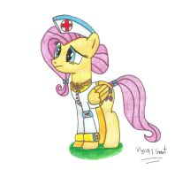 Lieutenant Fluttershy, the Element of Kindness Mk2 by UlyssesGrant