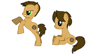 My Little Supernatural Ponies - Sam and Dean by OmniStrife18