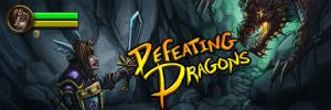 Defeating Dragons Site Logo by MaddMim