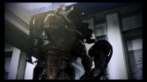 Grunt and the Krogan memorial by Burnouts3s3
