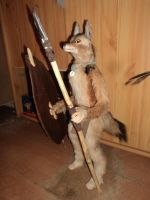 African Warrior - Poseable Jackal-Doll by Kreativjunkie