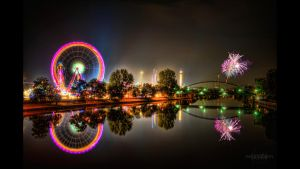 Volksfest HDR Fireworks BG by Creative--Dragon