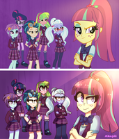 MLP EG:Friendship games  We're the shadowbolts! by AkapiiART