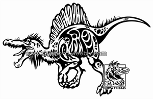 Spinosaurus Tribal by Therbis