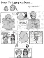 How Ty-Laang was born... by MidnightAvatArtist8