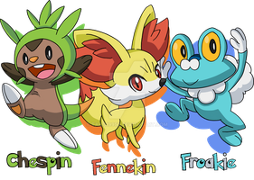 Pokemon - The 6th Generation Starters by Tails19950