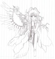 Angel with broken wings by RoseWitchLovesYusei