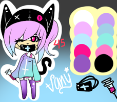 Vany the pastel cat ADOPTABLE TAKEN by LittleChewrrie