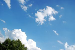 Clouds and a tree by jrbamberg