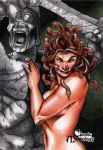 Medusa Classic Mythology Sketch Card by RichardCox