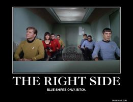 The Right Side is the Blue Side by SpockHorror