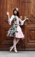Green Rococo set by zeloco