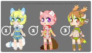 Adoptables 11 - CLOSED by NauticalSparrow