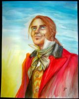 Watercolor portrait: Enjolras by Nyranor