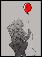 Blood Red Balloon by PrincessAbiliss