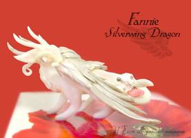 Fannie, Silverwing dragon by rosepeonie