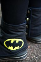 NerdWear: Batman Spats Detail by Costumy