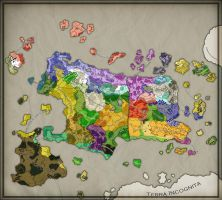 Krondeum Political Map by Kaloith
