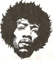 Hendrix Tattoo Design by JohnVichlenski