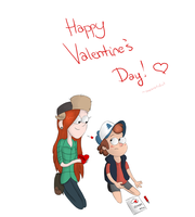 Gravity Falls: Wendy and Dipper Valentine's by OneSmartIdiot