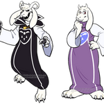 Goats in Fashionable Robes by AdriOfTheDead