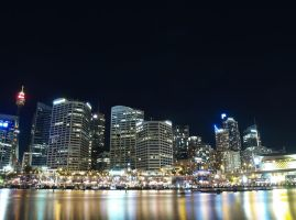 Sydney city Darling Harbour by aambience