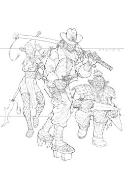 Steampunk Musha Pencils by JerMohler