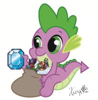 Spike digital art by Xcoqui