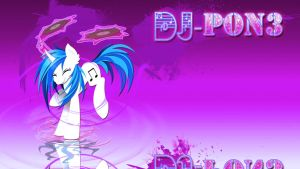 Wallpaper Vinyl music pony by Barrfind