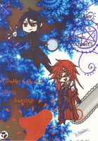 Sebastian and Grell by DOLLce13