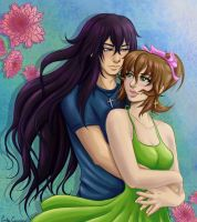 Art Trade: Mikael and Samantha Colored by OtakuEC