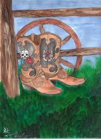 Finished Cowgirl Boots 001 by DarkRein82
