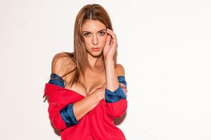 red coat by LillyLeeModel