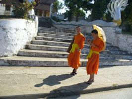 Lao Monks by emalterre