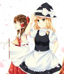 Shrine Maiden and Ordinary Witch by hironyan